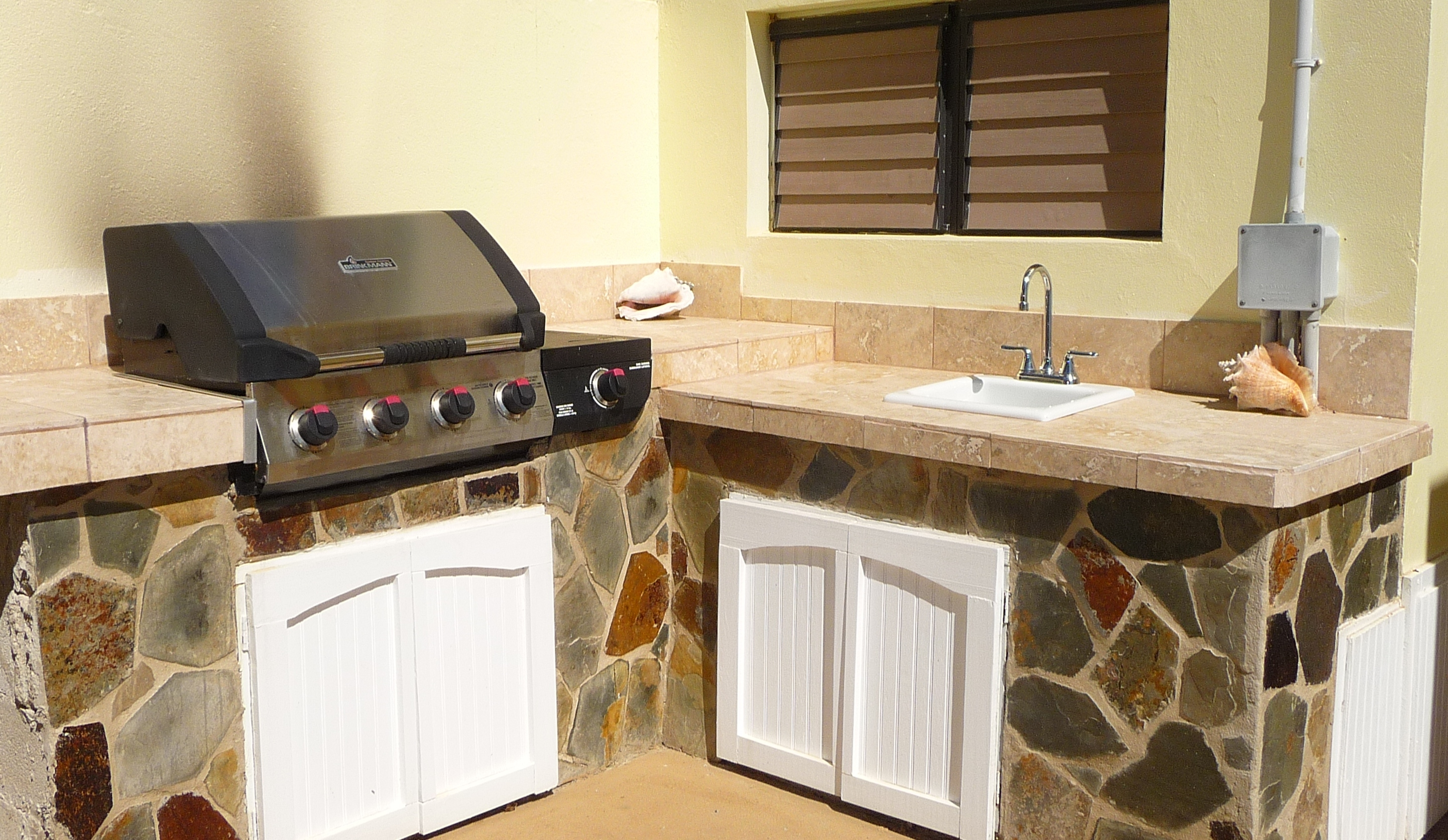 Gas Grill and Laundry Room